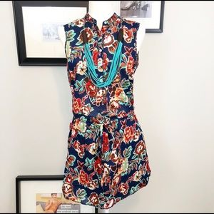 Chelsea & Violet floral sleeveless shirt dress